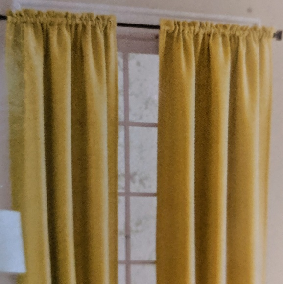 """mainstay Other - NWT 54"""" Yellow Bennett Textured Panel Curtains"""